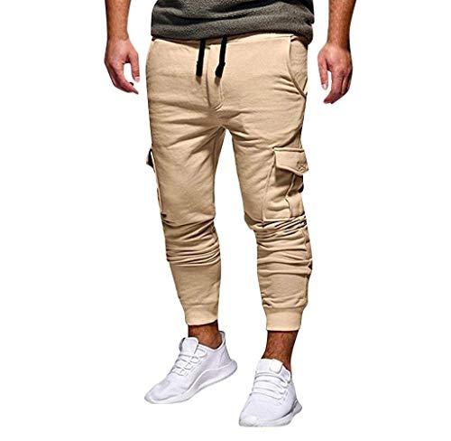 Sportivo Autentico Especial Da Uomo Cargo Tapered Jogging Khaki Jeans Fit Lunghi Base Pant Chino Abbigliamento Pantaloni Estilo WpX4IHqq