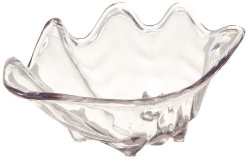 Carlisle 33907 Clam Shell Buffet Bowl, 12.6 oz. Capacity, Plastic, Clear (Pack of 12) by Carlisle