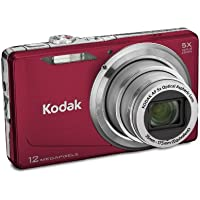 Kodak Easyshare M381 12.4MP Digital Camera with 5x Optical Zoom and 3-inch LCD (Red) Basic Facts Review Image