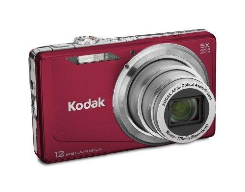 Kodak Easyshare M381 12.4MP Digital Camera with 5x Optical Zoom and 3-inch LCD (Red) (Kodak Share Camera)