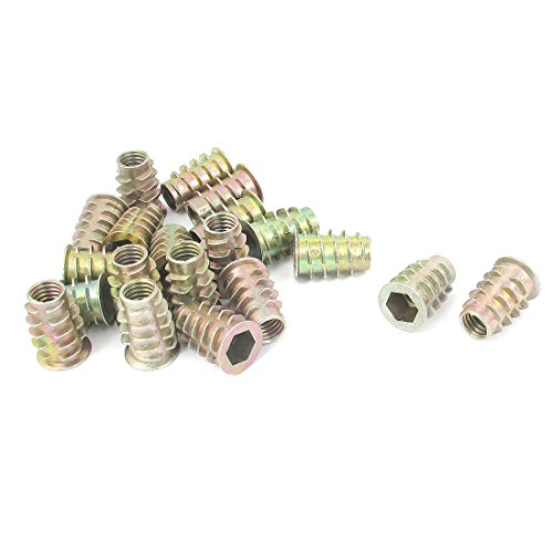 (Uxcell a15111600ux0323 M8x20mm Hex Socket Screw in Thread Insert Nut 20 Pcs for)