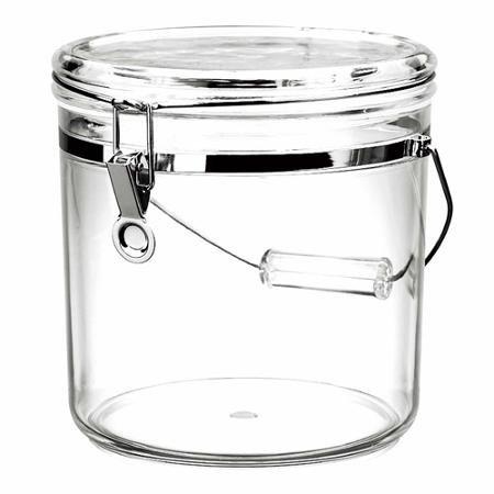 San 130 oz Acrylic Latch Jar, Clear