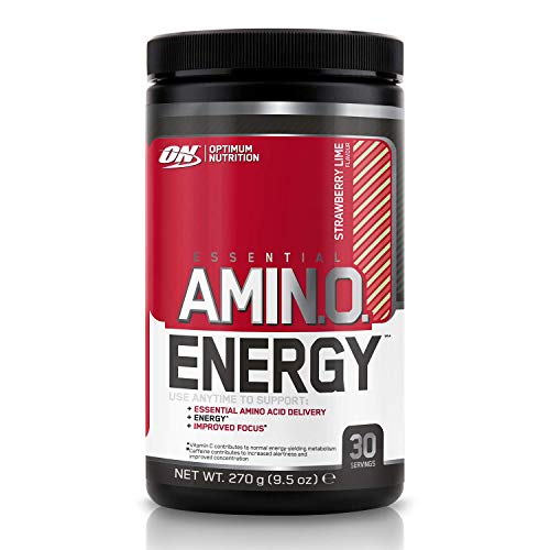 Optimum Nutrition Amino Energy Pre Workout Powder Keto Friendly with Beta Alanine, Caffeine, Amino Acids and Vitamin C, Strawberry Lime, 30 Servings, 270 g