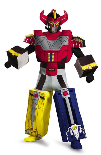 Costumes Men Rangers Power (Disguise Sabans Mighty Morphin Power Rangers Megazord Mens Adult Costume, Multi,)