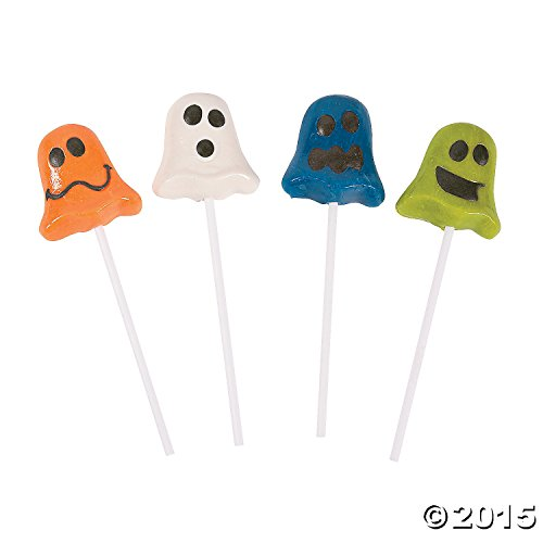 Funny Face Ghost Suckers (Ghost Lollipops Halloween)