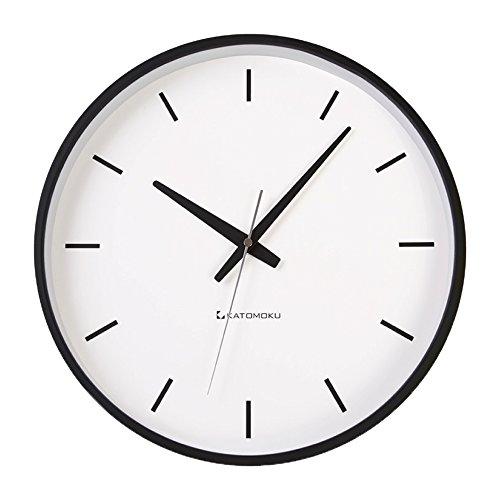 KATOMOKU plywood wall clock ブラック 電波時計 連続秒針 km-49BRC φ304mm B01MQ5MUV9
