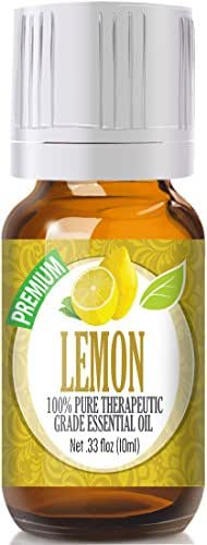 Healing Solutions Lemon 100% Pure, Best Therapeutic Grade Essential Oil - 10ml