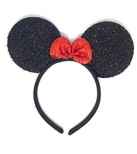 Albertino Minnie Mouse Sequin Ears Headband Party Costume Headwear Accessory Halloween Edition