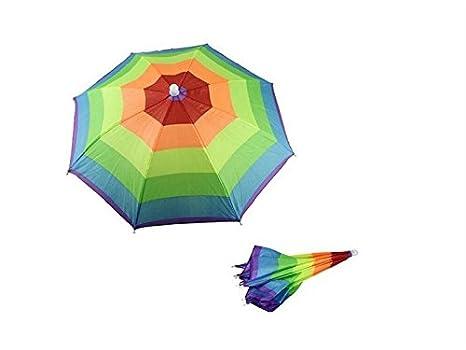 Zabrinay Artículos para el hogar Niños Niños Coloridos Paraguas Sombrero Arco Iris Paraguas Sombrero Paraguas de