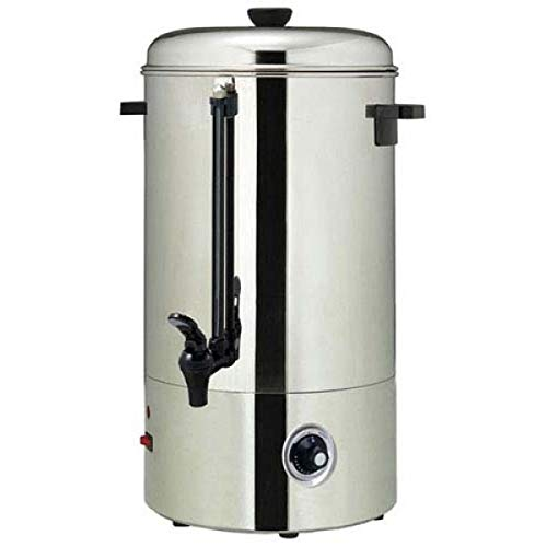Cafe Amoroso 100 Cup Stainless Steel Coffee Maker Urn - Premium Commercial Double Wall Design - Perfect For Catering, Churches, Banquets, Restaurants, Parties & More - 1 Year Warranty