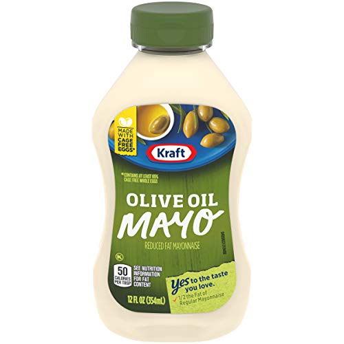 Kraft Reduced Fat Mayo with Olive Oil, 12 fl oz Bottle