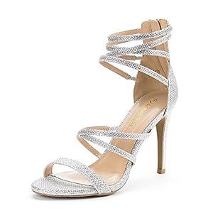 DREAM PAIRS Women's Show High Heel Dress Pump Sandals