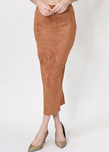 f654efa8a Wink Gal Women's Long Suede Pencil Skirt - Import It All