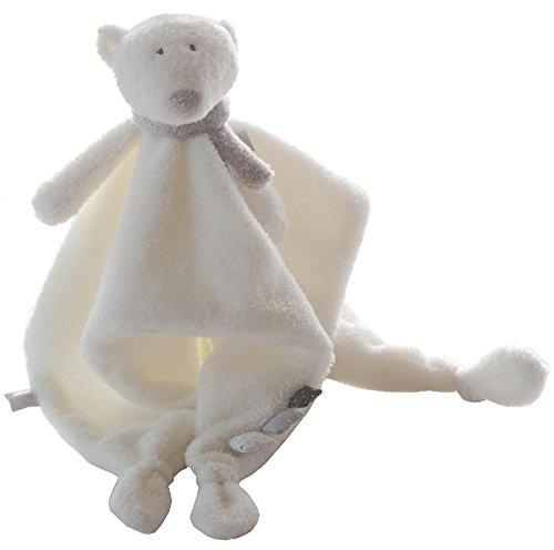 p'Timo Doudou, Cuddly Polar Bear Blanket (Soft Doudou Toy)