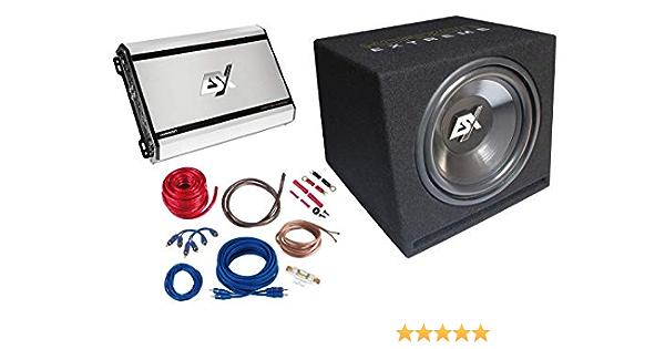 ESX Horizon HXP4 - Caja de subwoofer con 4 canales: Amazon.es: Electrónica