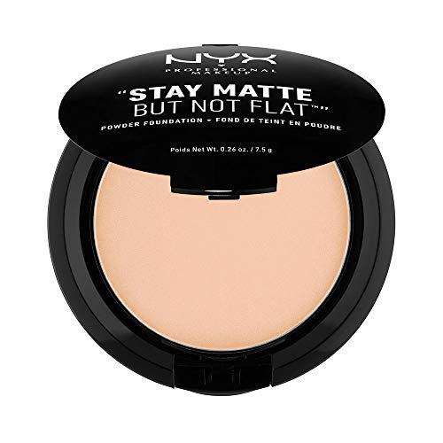 NYX PROFESSIONAL MAKEUP Stay Matte but not Flat Powder Foundation, Natural, 0.26 Ounce