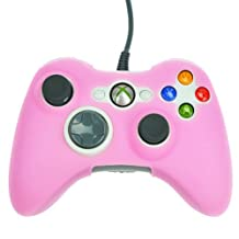 HDE Xbox 360 Silicone Wireless Controller Skin Protective Rubber Case Cover for Microsoft Xbox 360 Game Pad (Pink)