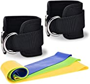 Zrova Ankle Straps for Cable Machines, Adjustable Ankle Straps for Legs Workout