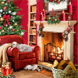 british heart foundation charity christmas cards fireplace pack of 8