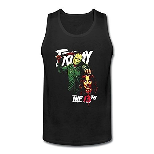 SUNRAIN Men's Jason Voorhees Friday The 13th Tank Top (Jason Voorhees Clothes)