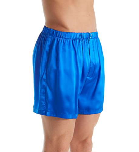 Magic Silk Big Man Silk Charmeuse Boxer (4204) 1XL-2XL/Cobalt