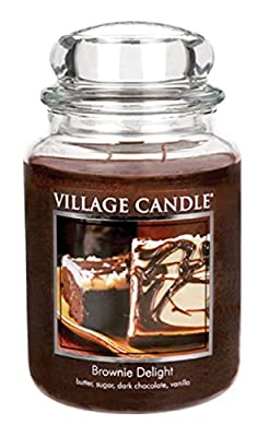 Village Candle Brownie Delight 11 oz Glass Jar Scented Candle