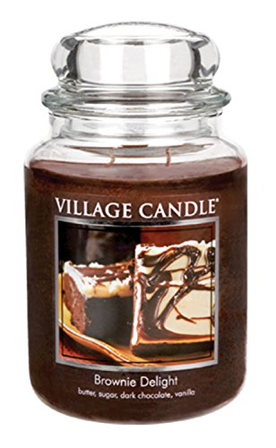 (Village Candle Brownie Delight 26 oz Glass Jar Scented Candle, Large)