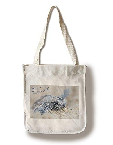 Biloxi, Mississippi - Hawksbill Turtle Hatching (100% Cotton Tote Bag - - Shopping Biloxi Mississippi