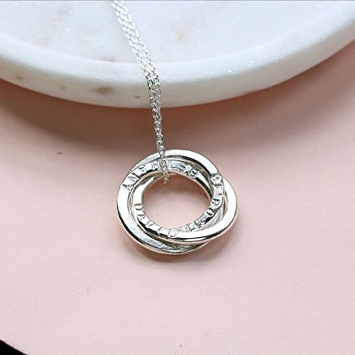 6179964bc Image Unavailable. Image not available for. Color: Kids names necklace,  personalised ...