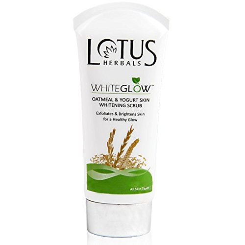 Herbal Scrub - Lotus Herbals Oatmeal & Yogurt Skin Whitening Scrub - Whiteglow 100g