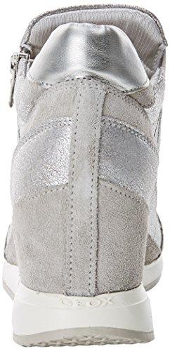Geox Womens Nydame Sneaker Grigio (lt Grigio)