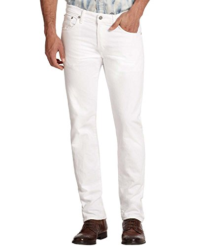 Men's Polo Ralph Lauren Slim Straight Stretch Jeans - Jeans White Ralph Mens Lauren