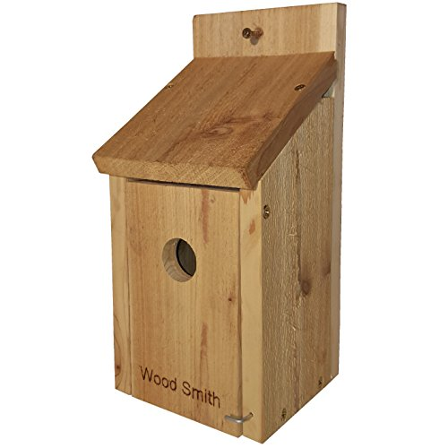 Bird Cedar House (Bird House- Red Robin, Bluebird, Purple Martin, Finch, Cardinal Bird, Even a Woody Woodpecker House. Made in USA by WoodSmith, From All Natural Western Red Cedar. Add Some Life to your Yard today.)