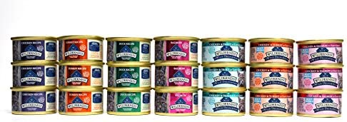 Blue Buffalo Wilderness Grain-Free Cat Food Variety Pack Box - 7 Flavors (4 Classic Flavors & 3 Wild Delights Flavors) - 21 (3 Ounce) Cans - 3 of Each Flavor 5