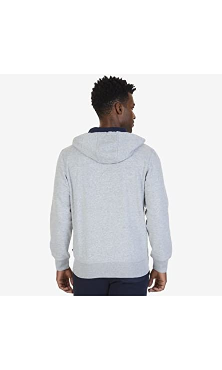 Nautica Mens Chest Logo Zip Front Long Sleeve Hoodie at Amazon Mens Clothing store: