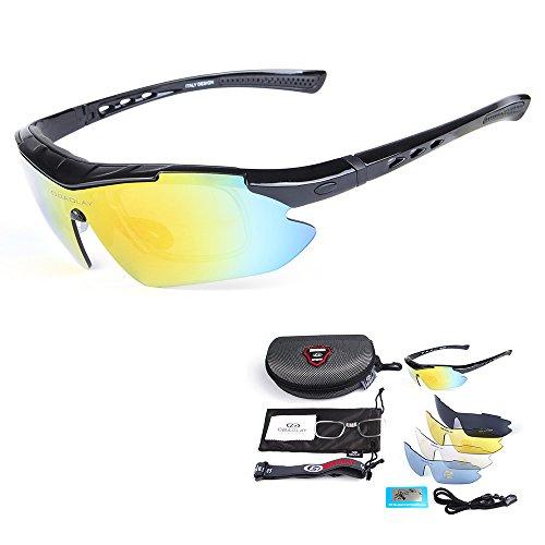 Sol Bicicleta Deportivas Gafas Lixada de de Polarizadas negro UV400 Ciclismo Gafas qOawpx