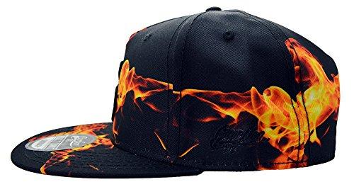 para amp; béisbol hombre Carbon212 Black Talla Gorra Orange única de tHvYw