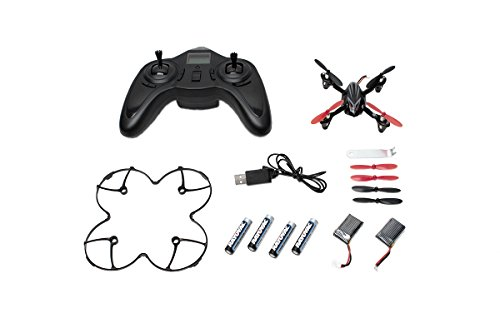 Hubsan X4 H107L 2.4GHz 4CH RC Quadcopter with LED Lights RTF, Black/Silver ()