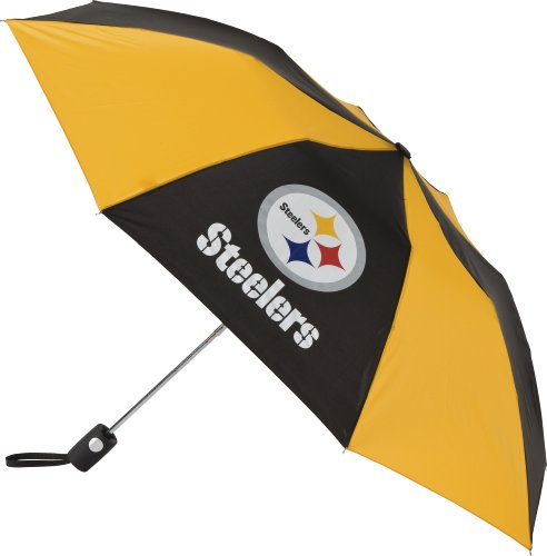 NFL Pittsburgh Steelers Auto Folding Umbrella (Rams Jersey Purse Louis)