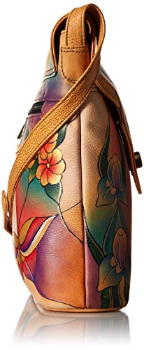 Bag Glass Shape V Handpainted Anuschka Painting Butterfly BGP 8059 Flap Leather HpaWzqf0