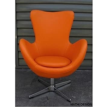 Mathi Design Sessel Cocoon Kunstleder Farben Orange Amazon De