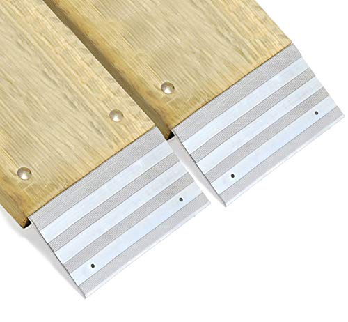 2 PCS Heavy Duty 12'' Aluminum Ramp Top/End Set with Mounting Hardware (Boards Not Included) by [Fengo] (Image #3)
