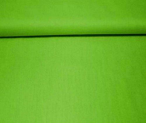 Erstklassiger Baumwollstoff, Uni, Kleider-, Dekostoff, 100% Baumwolle, Meterware, Breite 160cm - grün