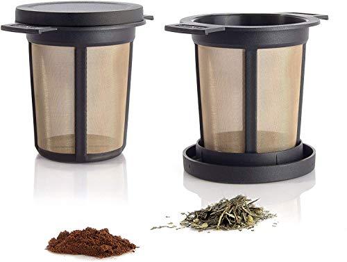 Finum 421.50.00 Brewing Basquet Filtro Permanente, Acero Inoxidable, Negro, 7 cm
