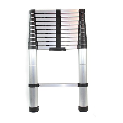 Nestling® Multi-Purpose Folding Extensionable Telescopic Aluminium Ladder (2.6/2.9/3.2/3.8M foldable) (3.8m)