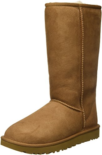 UGG Women's Classic Tall II Winter Boot, Chestnut, 9 B US (Ugg Leather Boots)