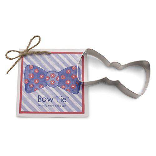 Bow Tie Cookie and Fondant Cutter - Ann Clark - 4 Inches - US Tin Plated Steel 4 Inches