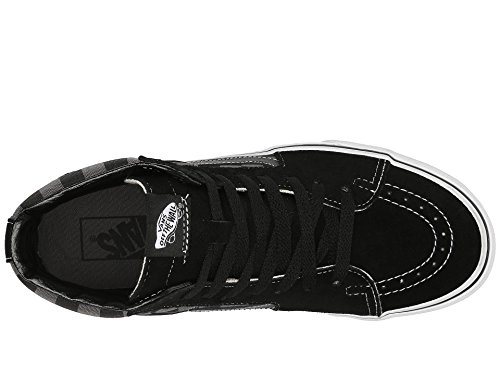 Black Classic SK8 Unisex Vans Adults Pewter up Top Sneaker Hi Hi Checkerboard Lace EBv6wq