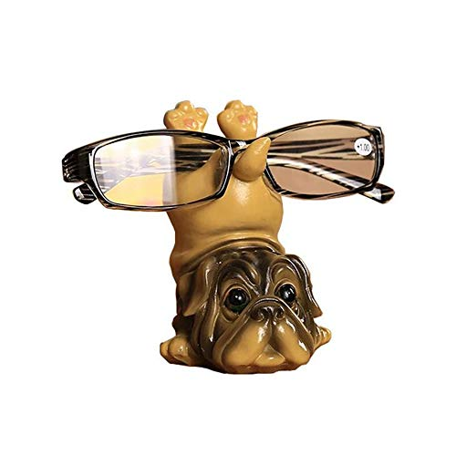 MetaView Puppy Dog Shape Resin Eyeglass Holder,Sunglass Holder Retainer/Spectacle Holder Store/Eyeglass Display Stand Office Home Decoration Gift(Pug)