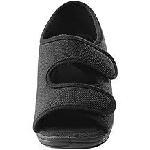 Womens Comfortable Indoor/Outdoor Sandals with Adjustable Fastener Straps